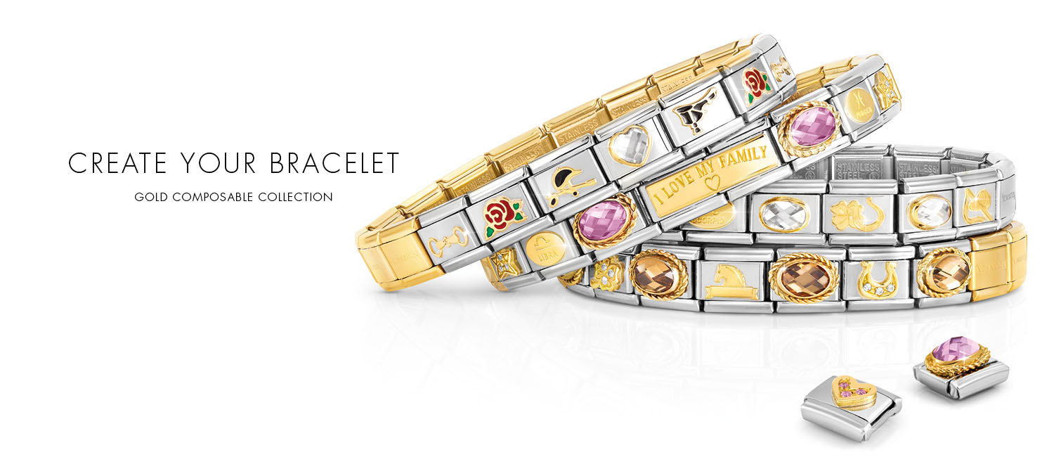 Composable Collection Free your creativity and compose the bracelet of your dreams.